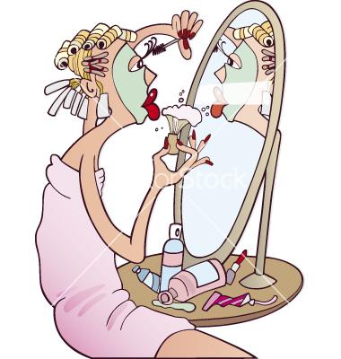 woman-doing-makeup-vector-109885