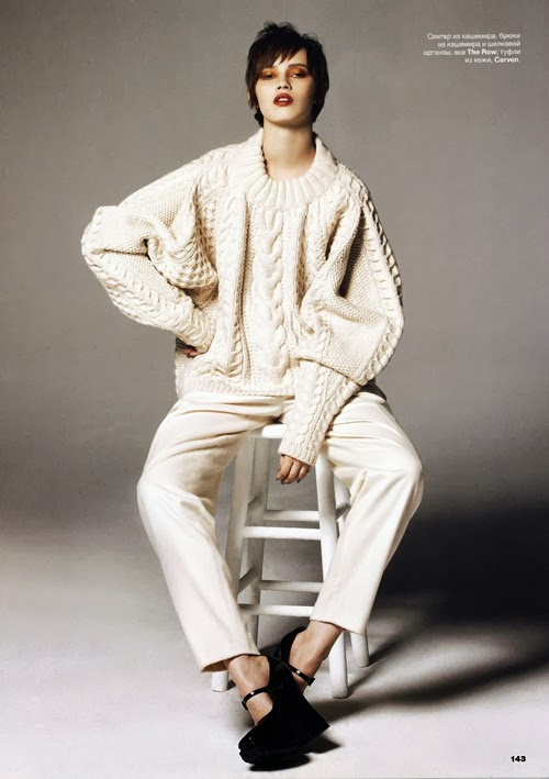 The Row Rimi Sweater in Allure Russia Sept, 2013