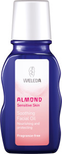 almond soothing facial oil bottle english nordic